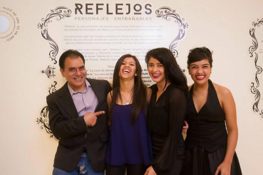 Jorge Ávalos, Emy Stephany, Lilibeth Rivas y Alejandra Nolasco durante la entrega del Premio Ovación 2014.