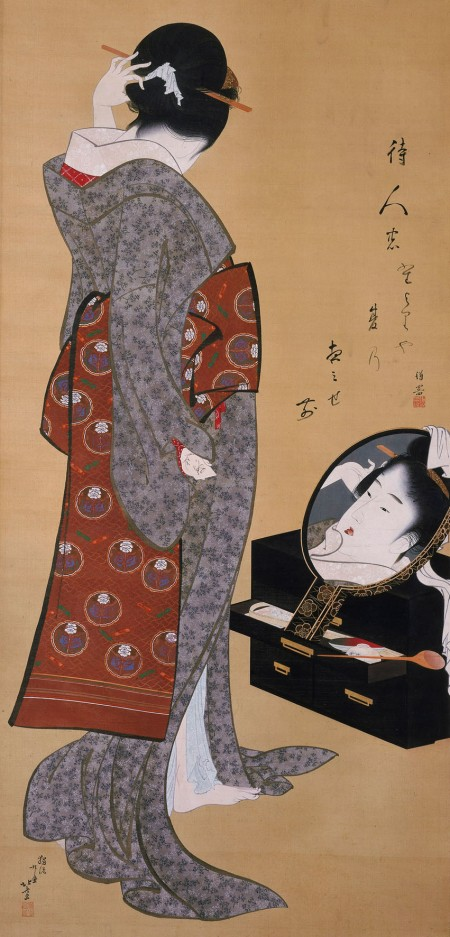 hokusai-woman-in-mirror