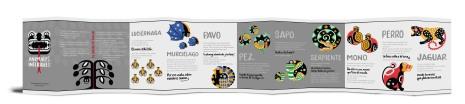Animales Interiores. Texto de Vanessa Núñez Handal. Diseño e ilustraciones de Frida Larios. Introducción y versión en inglés de A. F. Ward. Escriba: Carla Paola Torres. Co-diseñadora: Michele Müller.