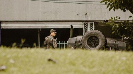 """""""Militarización"""". Fotografía de José Miguel Mercado."""